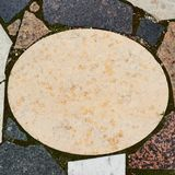 Мраморная овальная плита copyspace Стоковая Фотография
