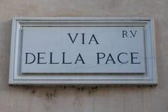 Мраморная плита, через побежку della, Рим, Италия Стоковая Фотография