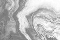 Мраморная предпосылка конспекта текстуры с серым масштабом Стоковое фото RF