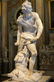 Мраморная скульптура Дэвид Gian Lorenzo Bernini в Galleria Borghese, Риме Стоковые Изображения RF