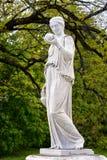 Мраморная статуя греческой богини Hera или Стоковая Фотография RF