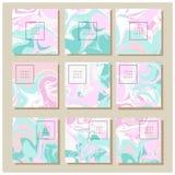 Мраморная текстура на карточке приглашения Стоковая Фотография RF