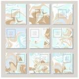 Мраморная текстура на карточке приглашения Стоковое Изображение RF