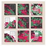Мраморная текстура на карточке приглашения Стоковая Фотография