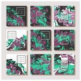 Мраморная текстура на карточке приглашения Стоковые Фото