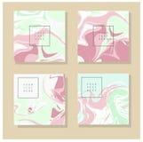 Мраморная текстура на карточке приглашения Стоковое Фото
