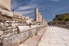 Мраморная улица, древний город Ephesus, Selcuk, Турция Стоковая Фотография