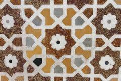 мраморное украшение на усыпальнице ITMAD-UD-DAULAH стоковые изображения rf
