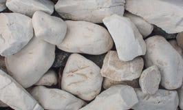 Мраморные белые камешки Стоковая Фотография