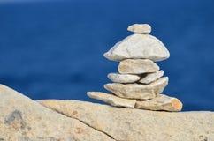 Мраморные камни Дзэн Стоковая Фотография RF