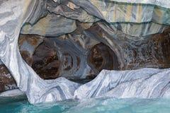 Мраморные пещеры, chilena Патагонии стоковые изображения rf