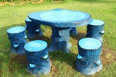Мраморные пни таблицы Стоковая Фотография