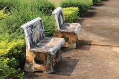Мраморные стенды в общественном парке Стоковое Фото