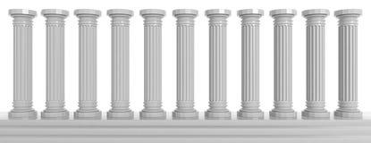 Мраморные штендеры на белой предпосылке иллюстрация 3d иллюстрация штока