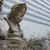 Мраморный бюст Зевса Стоковые Фотографии RF