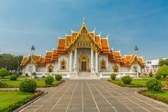 Мраморный висок виска или Wat Benchamabophit, Бангкок Таиланд стоковые изображения rf