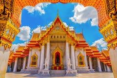 Мраморный висок Таиланда, Wat Benchamabophit стоковое изображение