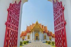 Мраморный висок, Wat Benchamabophit Dusitvanaram Бангкок Стоковое фото RF