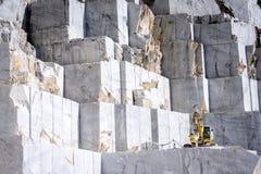 Мраморный карьер в Карраре Италии Стоковое Изображение