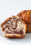 Мраморный крупный план пирожного Стоковые Изображения RF