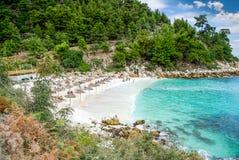 Мраморный пляж (пляж), острова Saliara Thassos, Греция Стоковая Фотография
