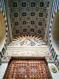 Мраморный собор Пистойя Тоскана Италия искусства стоковое изображение rf