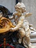 Мраморный херувим, базилика ` s St Peter, государство Ватикан Стоковая Фотография