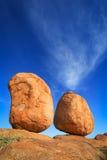 Мраморы дьяволов, северная территория Австралия стоковые изображения rf