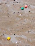 Мраморы на пляже Стоковые Изображения RF