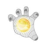 Мрамор в концепции технологии руки Стоковые Фотографии RF