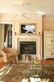 мрамор гостиной камина стоковое изображение