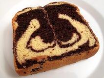 мрамор хлебца шоколада торта стоковая фотография
