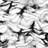Мрамор - чернота, бело- безшовная предпосылка Стоковое фото RF