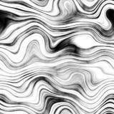 Мрамор - чернота, бело- безшовная предпосылка Стоковые Фотографии RF