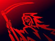 Мрачная смерть с косой также вектор иллюстрации притяжки corel Стоковая Фотография RF