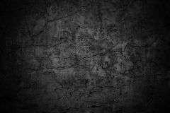 Мрачная текстура стены, темный цемент черноты предпосылки Стоковые Изображения RF