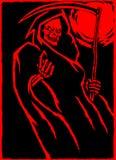 Мрачный жнец также вектор иллюстрации притяжки corel Стоковая Фотография