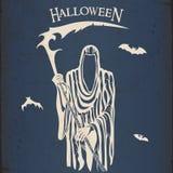 мрачный жнец halloween Стоковое Изображение