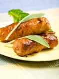 мудрая телятина saltimbocca стоковое изображение rf