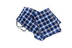 Мужеские, checkered брюки пижамы стоковое изображение rf