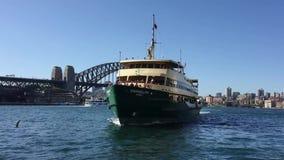 Мужественный паром, гавань Сиднея, Австралия сток-видео