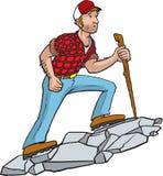 Мужественный Hiker бесплатная иллюстрация