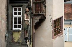 Мужская деревянная скульптура Стоковое Фото