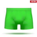 Мужская зеленая сводка кальсон также вектор иллюстрации притяжки corel Стоковые Фотографии RF