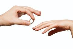 Мужская и женская рука Стоковое Изображение RF