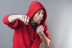 Мужская концепция отрочества, боксер стоковое фото rf