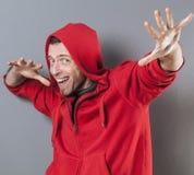 Мужская концепция отрочества для восторженного среднего возраста стоковая фотография rf