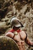 Мужская модель в обмундировании гладиатора Стоковое Изображение