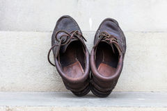 Мужская мода с ботинками стоковое фото rf