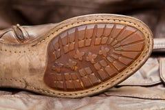 Мужская подошва ботинка. Handmade ботинки. Винтажный стиль Стоковое Изображение